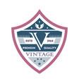creative branding element in vintage style vector image