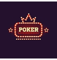 Crowned Poker Neon Sign vector image vector image