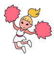 cute cheerleading girl jumping in vector image vector image