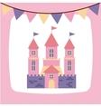 cute pink fantasy castle vector image vector image