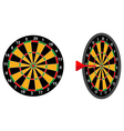 darts game arrow vector image vector image