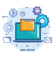 data center laptop computer file document system vector image vector image