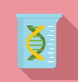 dna flask icon flat style vector image vector image