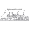 england west yorkshire architecture line skyline vector image vector image