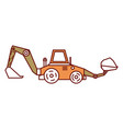 excavator construction isolated icon vector image vector image