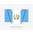 Flag of Guatemala Flat Icon vector image vector image