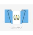 Flag of Guatemala Flat Icon vector image