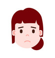 girl head emoji with facial emotions avatar vector image vector image