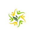 global ecology solution community vector image