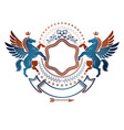 graphic vintage emblem composed with winged vector image vector image