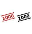 grunge textured and clean 1000 stamp prints vector image vector image