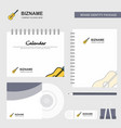 guitar logo calendar template cd cover diary and vector image vector image