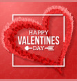 happy valentines day with heart vector image vector image