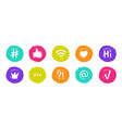 hashtag social banners trendy blogs quotes vector image