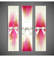 holiday banners with white bows and ribbons vector image