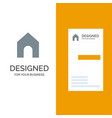 home instagram interface grey logo design and vector image vector image