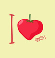 I love tomatoes Heart of red tomatoes vector image vector image