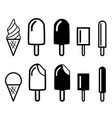 ice cream icons and symbol vector image