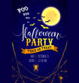 invitation flyer for halloween party with vector image