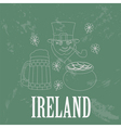 Ireland landmarks Retro styled image vector image