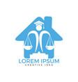 juridical legal center emblem vector image vector image
