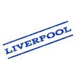 Liverpool Watermark Stamp vector image vector image