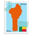 mail to-from Benin vector image vector image