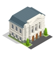 mayoralty isometric building architecture vector image vector image