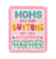 mothers day lettering composition vector image vector image
