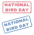 national bird day textile stamps vector image vector image