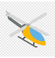 orange helicopter isometric icon vector image vector image