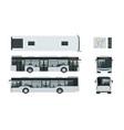 passenger city bus for branding identity vector image