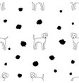 pattern dogs vector image