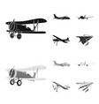 plane and transport icon vector image