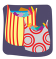Plastic shopping bags full of clothes vector image vector image