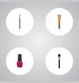 realistic beauty accessory eye paintbrush vector image vector image