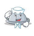 sailor tray character cartoon style vector image vector image