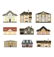 set of flat housescottages for infographics vector image vector image