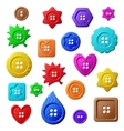 Sewing buttons on white background vector image vector image