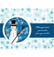 snowman label vector image vector image