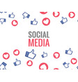 social network marketing like and heart icon vector image vector image
