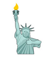 statue of liberty winks thumbs up landmark vector image vector image