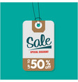 tag sale special discount up to 50 off ima vector image vector image