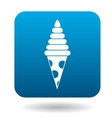 Tasty ice cream cone icon simple style