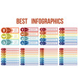 templates for infographic from circles horizontal vector image vector image