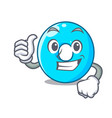 thumbs up the number zero on a cartoon vector image