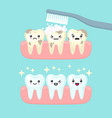 tooth cleaning and brushing stomatology concept vector image vector image