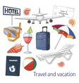 Travel and vacation set vector image vector image
