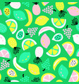 tropical summer fruit seamless pattern vector image vector image