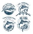tuna logos sport fishing club logos vector image vector image